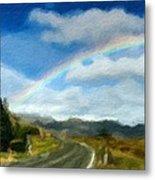 Rainbow Road - Id 16217-152055-0118 Metal Print