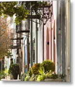 Rainbow Row Charleston Sc 2 Metal Print