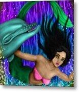 Rainbow Sea Mermaid - Fantasy Art Metal Print