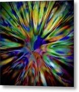 Rainbow Splash Metal Print