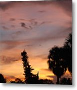 Rainbow Sunset Metal Print