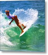 Rainbow Surf Day Metal Print