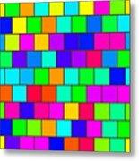 Rainbow Tiles Metal Print