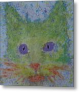 Rainbow Tomcat Metal Print