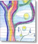 Rainbow Tree Revisited Metal Print