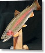 Rainbow Trout On Maple 15 Metal Print by Eric Knowlton