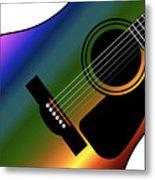 Rainbow Western Guitar Metal Print