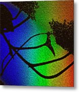 Rainbows And Stary Clouds Metal Print