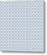 Raindrops Ltblue Pattern Metal Print