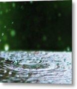 Raindrops Rejuvinate Metal Print