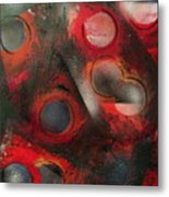 Raindrops Roses Metal Print