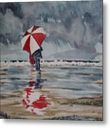 Raindrops To Seaglass Metal Print