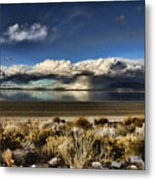 Rainfall Over The Salt Lake Metal Print