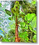 Rainforest Green Metal Print