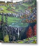 Rainier in fall Metal Print