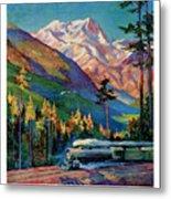 Rainier National Park Vintage Poster Restored Metal Print