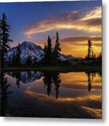 Rainier Sunrise Reflection #2 Metal Print