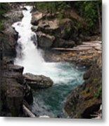 Rainier Waterfall Metal Print