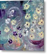 Raining Flowers Metal Print