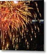 Raining Golden New Year Wishes Metal Print
