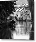 Raining On The Canal Metal Print