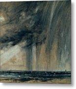 Rainstorm Over The Sea Metal Print by John Constable