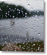 Rainy Day At The Lake Metal Print