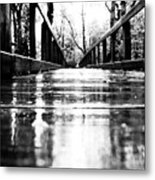 Take A Walk With Me In The Rain Metal Print