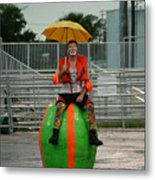 Rainy Day Clown Metal Print