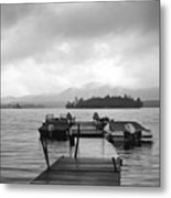 Rainy Day Dock Metal Print