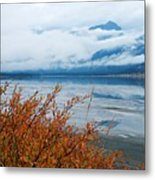 Rainy Day In The Mountains Metal Print
