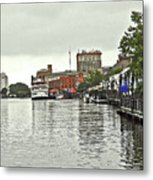 Rainy Day In Wilmington Metal Print
