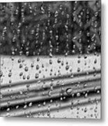 Rainy Day On The Train Metal Print