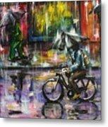 Rainy Day Original Painting Metal Print
