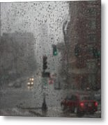 Rainy Days In Boston Metal Print