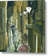 Rainy Evening In Kotor Metal Print