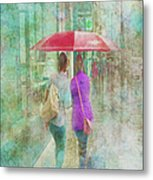 Rainy In Paris 1 Metal Print