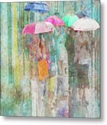 Rainy In Paris 2 Metal Print