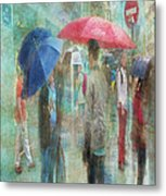 Rainy In Paris 6 Metal Print