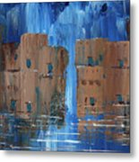 Rainy Night At The Pueblo Metal Print