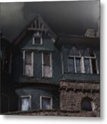 Rainy Night House Metal Print