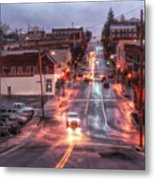 Rainy Night In Marion Metal Print