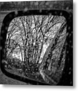 Rainy Reflections Metal Print