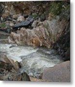 Rainy Rocky Rapids Metal Print