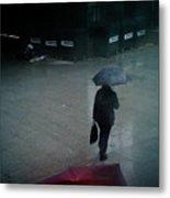 Rainy Whether In London. Metal Print