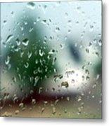 Rainy Window 1 Metal Print