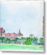 Rajabai Clock Tower And Bombay High Court Metal Print