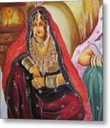 Rajasthani People Metal Print