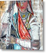 Rajasthani Woman Metal Print