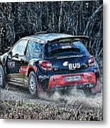 Rally Car Metal Print